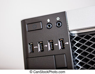 Powerful computer with USB 3 ports - Front USB ports on...
