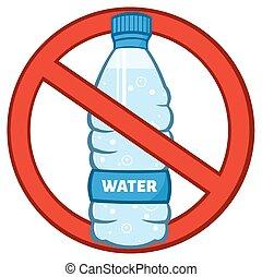 Restricted Symbol Over A Bottle - Restricted Symbol Over A...