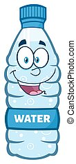 Happy Water Plastic Bottle Cartoon Mascot Character