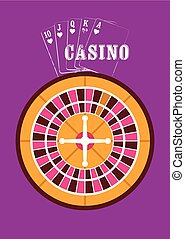 Casino vintage style poster - Casino vintage style poster...