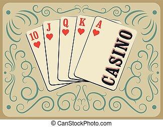 Casino calligraphic vintage poster - Casino calligraphic...