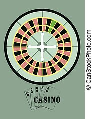 Casino vintage style poster. - Casino vintage style poster...