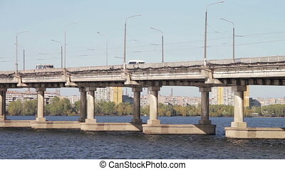 Road Bridge Over the River - Road bridge across the Dnieper...