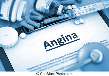 Angina Diagnosis. Medical Concept. 3D Render. - Angina,...