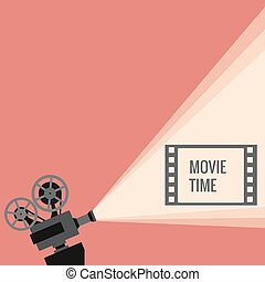 Movie projector vector illustration Movie projector vector...