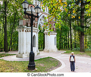 "Curly (Grape) gates. Museum-Reserve ""Tsaritsyno"". Moscow"
