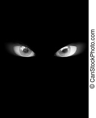 Scary Eyes - Some scary looking eyes in the dark, could be...