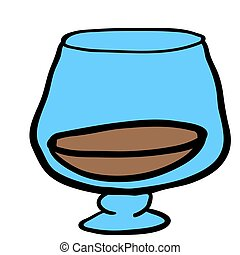 glass of cognac cartoon