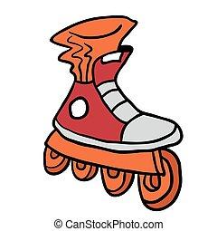 roller blade cartoon