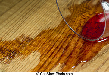 spilled glass of wine