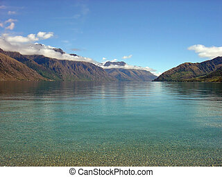Lake Wakatipu, New Zealand - Lake Wakatipu, Queenstown,...