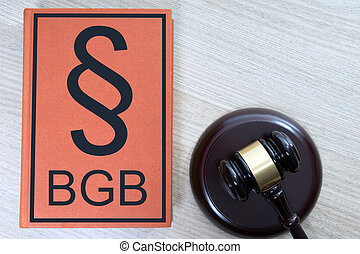 Statute book - statute book and judges gavel with the...