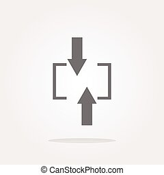 vector arrow set on web icon (button)