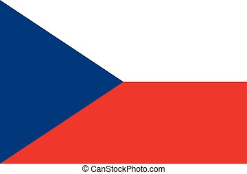 Flag of Czech Republic in correct proportions and colors