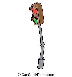 traffic light cartoon