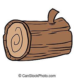 wood log cartoon