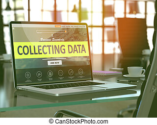 Collecting Data Concept on Laptop Screen.