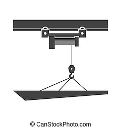 Overhead crane.  Isolated on background. Vector illustration