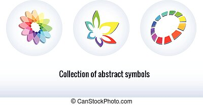 Stylized abstract icons.  Abstract symbols for your design.