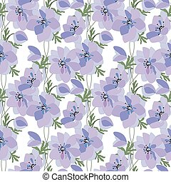 Floral seamless pattern made of spring anemones