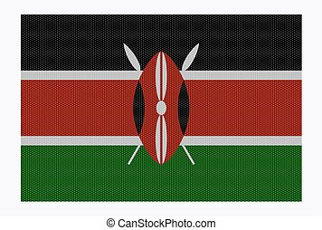 Kenya Flag White Dots - A retro looking Kenya flag isolated...
