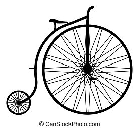 Penny Farthing Silhouette - A penny farthing silhouette...