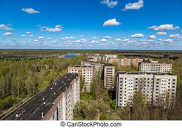 Abandoned city Pripyat, Chernobyl region, Ukraine in a...