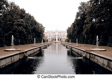 Peterhof, Petergov, Peter´s court, St Petersburg, Russia