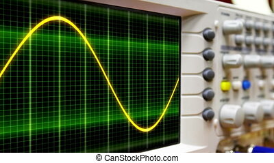 Seamless loop animation. moving sine wave on an oscilloscope