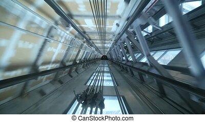 Elevator shaft descent