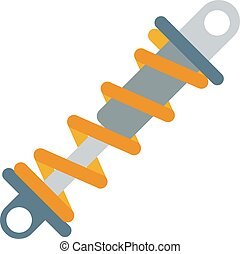 Flat vector illustration of shock absorber icon metal car...
