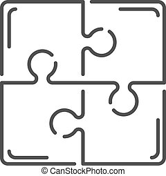 Various sizes set jigsaw puzzle blank template or cutting...