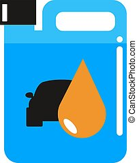 Metal canister of gasoline cartoon flat vector illustration...