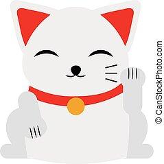 Japanese maneki neko lucky cat fortune symbol success kitty...