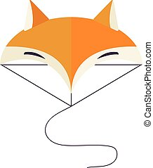 Illustration of fox head cartoon style - Fox face wild head...