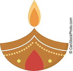 Vector illustration traditional celebration happy diwali...