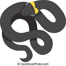 Black mamba uncoiled reptile ready to strike snake dangerous...