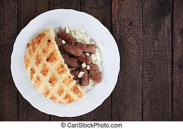 Cevapcici, bosnian minced meat kebab - Cevapsici, bosnian...