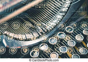 Old School Typewriter Concept. Script Writers Conceptual...