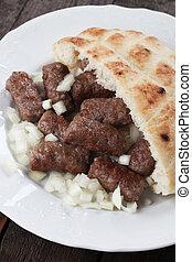 Cevapcici, bosnian minced meat kebav - Cevapcici, bosnian...