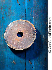 Old saw blade - Old rusty saw blade