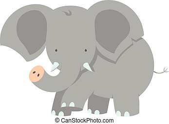 Baby Elephant - Vector Illustration Of A Cute Little Baby...