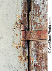 Old Rusty Door Hinge - Old rusty metal door hinge using...
