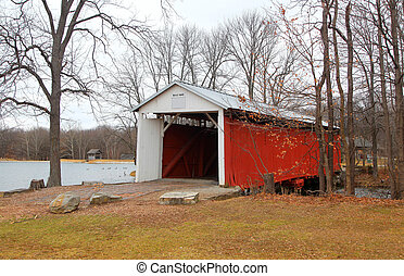 Irishman covered bridge - Vigo, Irishman covered bridge in...
