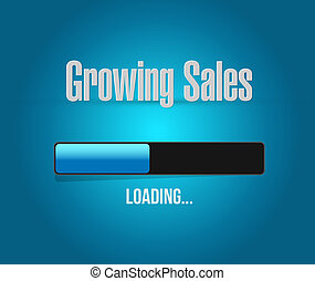 carga, barra, ventas, señal, concepto, Crecer