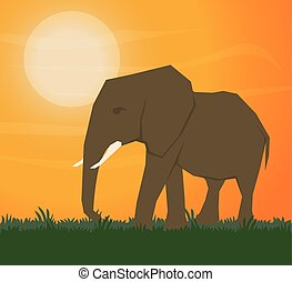 Flat illustration about africa design - Africa concept with...