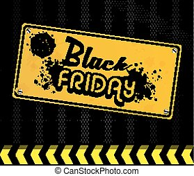 Black Friday yellow door sign - Illustration of Black Friday...