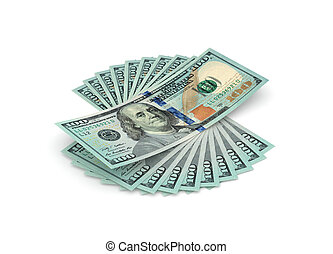 One thousand dollars - Stack of hundred dollars isolated on...