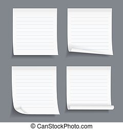 Sticky_Notes_12_5 - Lined sticky notes set, blank lined...