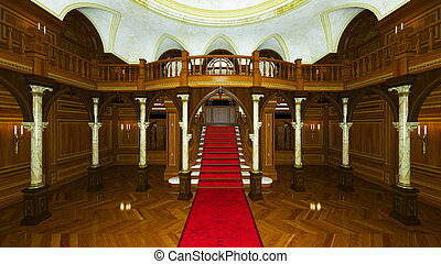 Palace - 3D CG rendering of a palace